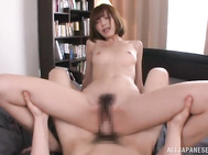 he then invites a huge hard dick into her tight slippery wet slit in an action ending in the taste of cum.