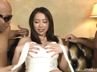 Mei Matsumoto enjoys a wild threesome sex.