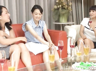 Naughty girls are having fun during top lesbian group session.