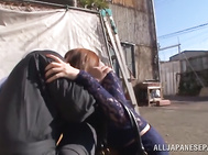 Outdoor pleasures for curvy Asian milf, Yui Hatano.