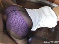 Sweet asian doll gets banged in doggy style, feeling every inch of that tasty cock slamming her tight pussy.