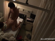 Then she spreads her legs wide apart, waiting for deep penetration, an the guy rams her hungry pussy with his hard dick and fucks the cutie hard in a doggystyle.