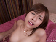 Check out perky tits babe screaming of pleasure with a big cock in her creamy cunt.