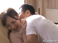 Stunning milf Kaede Fuyutsuki gets licked and banged.