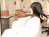 Stylish Japanese milf Yume Kana gets fucked by a horny hairdresser.