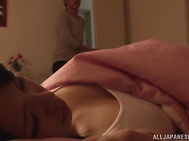 Sweet Asian babe enjoys harsh sex during her sleep.