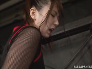 Hot and sexy Japanese milf Yui Hatano gets gagged and tied up by her lover.