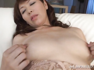 Alluring japanese finger fucking on cam.