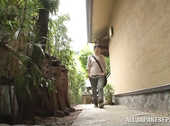 Busty mature chick Anri Okita moans with lust and gets banged.