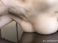 The passionate lady gives him a blowjob and then performs an exciting hardcore cock ride!.