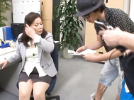 Crazy Mature Office Masturbation With Chizuru Iwasaki.