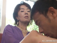Dick riding by hot mature Kei Marimura.
