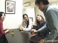 Gorgeous Japanese mature lady sucks hard cock and arranged titfuck.