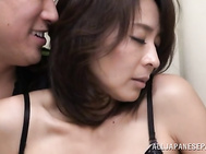 Horny mature chick Hisae Yabe relieves her sexual tension getting fucked.