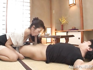 Take a look at the rear fuck as well as dick riding sessions with participation of our seductive and hot mature housewife Maki Hokujo! That dirty-minded rouge surely knows how to satisfy needs of her partner and does it with help of gentle hand work!.