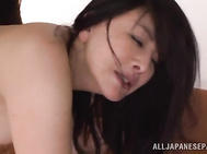 Hot asian babe receives full pleasure and stimulation.