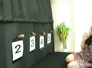 Kinky mature Japanese woman plays guessing game for husband.