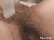 Hot mature with hairy pussy Chizuru Iwasaki gets hard masturbated and fucked by horny male who loves sliding stiff toys inside her cunt before sticking his long dick and enjoys hearing her moan of pleasure during his naughty masturbation fetishes which ma