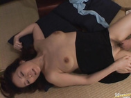 She is masturbating and gets caught by a friend of her son's.