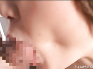Busty Japanese mature wife, Honoka Yumemi, is seriously damaged by her horny hubby in a rough hardcore fuck, cutie enduring the guy's penis deep in her moist vagina during long and very savage pounding moments.