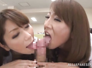 Once they arrange a really awesome gangbang action with a group of their horny colleagues, and their Asian porn action was really astonishing.