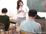 Busty Reiko Shimura is a nasty sexy teacher.