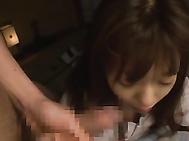 The gorgeous teen Aino Kishi may be wonderful to look at naked and fun to fuck, but she´s also fun to watch giving head too! We see her waking up from a naughty dream to be greeted by his erection.