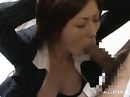 Superb Japanese milf is in for a nasty porn play while at the office, her needy boss craving for her pussy.