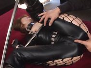 Yuma Asami hot Asian milf in bondage costume is teased while playing slave! She gets her pink pussy spread wide and licked before she licks his balls and sucks his dick in one hot head fuck.