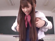Kinky schoolgirl Ai Nikaidou enjoys sex at school - Japanese Cosplay.