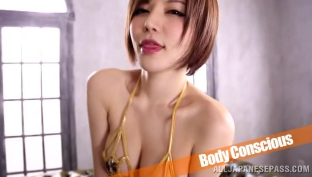 Sexy dress of horny Yuria Satomi helps her to get laid - Japanese Cosplay.