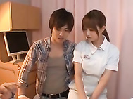 Akiho Yoshizawa Japanese nurse has sex in the hospital.