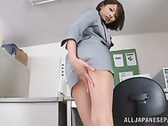 Wow this chick Yuuki Natsume is showing off her lovely legs in some hot upskirt shots.