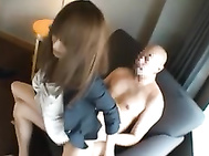 She is hot in her office suit and big knockers! He is admiring her hot tits and soon they are disrobing in the break room! He fingers her hot snatch and puts his head in between her legs to lick her juicy cunt.