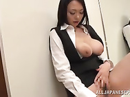 Busty asian beauty all alone as she plays with her sexy pantyhose…She masturbates and makes sure she fills all the joy… the sexy lady is joined by his male friend who penetrates her and enjoys cum swallowing.