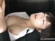 Now this is much more interesting than what normally goes on in an office! This MILF in pantyhose is sucking her boss until he´s nice and hard, and he´s ready to pull her pantyhose down and drill her on his couch.