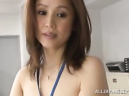 Hot office sex with a staggering beauty Yurie Matsushima.