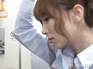 Asian MILF Yui Hatano gets groped and fingered on the train.