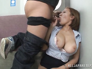She gets seduced by an impressive sexy dude, and gets her huge boobs squeezed and her lovely pussy fingered.