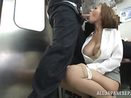 The guys stare at her, and one brave dude comes up and starts to tease her amazing body.