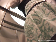 Horny Japanese babe gets fingered and squirts on a train.