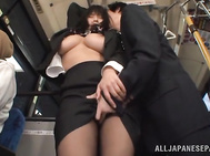 Busty babe wearing sexy pantyhose Hana Haruna is a hot MILF, who simply cannot survive a single day without the stunning pleasure that she can get only from wild sex.