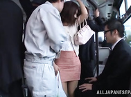 Luscious Japanese wife Nami Hoshino gets pounded in public.