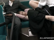 Amazing scene of perfect Japanese threesome with hot mature in need to play dirty in public.