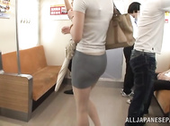 Naughty Asian milf Kanon Takikawa sucks two dicks publicly.