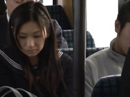 Public Bus Sex With Nana Ogura Fucking Many Guys.