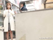 Enjoy staggering Japanese model Tsubasa Arai exposing her wonderful boobs in public prior to having her wet lips sliding over some really strong and tasty dicks in this threesome.