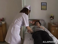 Horny nurse Kokone Mizutani is screwed by horny patients.