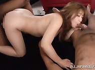She also gets her luscious pussy fingered and fucked so hard doggystyle!.