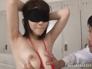 Busty Anri Okita jumps on hard cock with passion - Weird Japan.